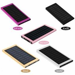 100,000mAh 2 USB Portable Solar Battery Charger Power Bank F