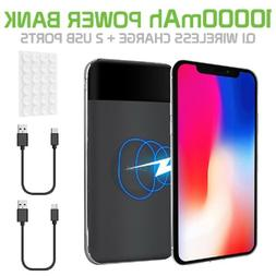 10000mAh Portable QI Wireless Charger Power Bank for Samsung