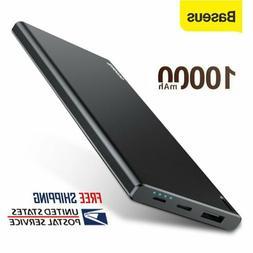 Baseus 10000mAh Power Bank Portable USB C Charger LED Phone