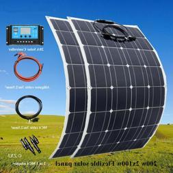 100W/200w flexible Solar Panel Kit for Boat Home Caravan Cam