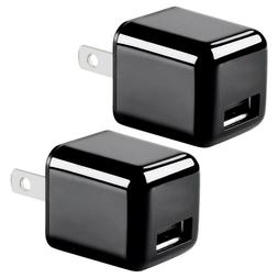 2 Pcs Mini Portable USB Wall Charger Power Adapter 2.4A iPho