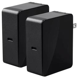 2x USB-C Type C Wall Power Charger 45W Portable Travel Smart