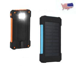 50000mAh 2USB Cell Phone Solar Power Bank Portable Charger E