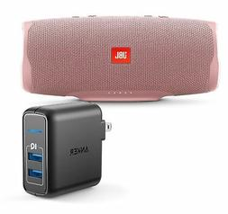 JBL Charge 4 Pink Portable Bluetooth Speaker w/Anker Wall Ch