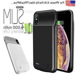 For iPhone 7 8/P/XS/Xr/Xs Max Battery Case Rechargeable Port