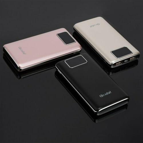 Portable 100000mAh LCD Bank USB Battery Phones