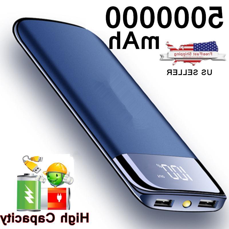 2000000mah portable power bank lcd 2 usb