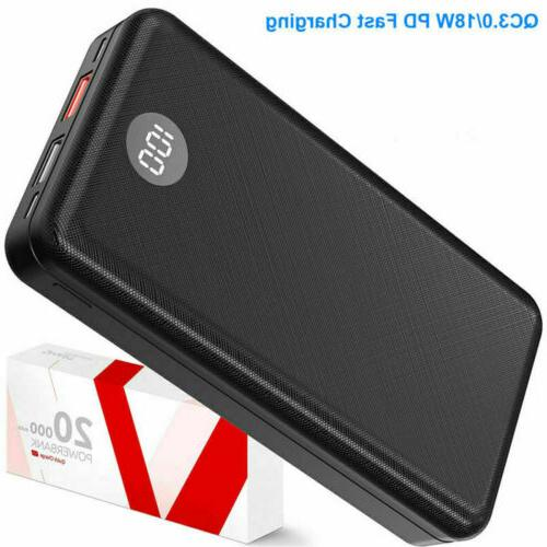 20000mAh Digtal Power Battery Bank Pack Qualcomm3.0 PD/18W