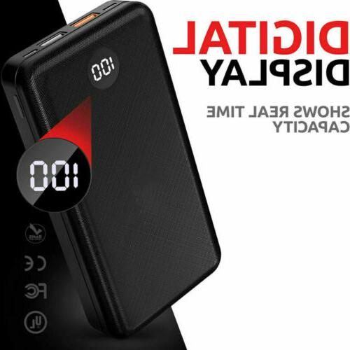20000mAh Digtal Portable Battery Bank PD/18W Charger