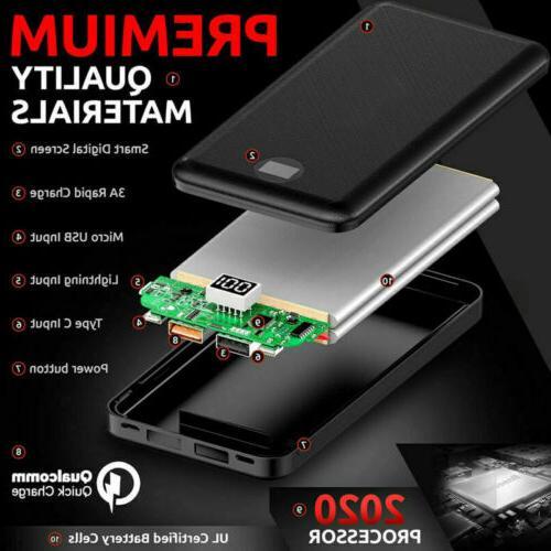 20000mAh Portable Power Battery Bank PD/18W