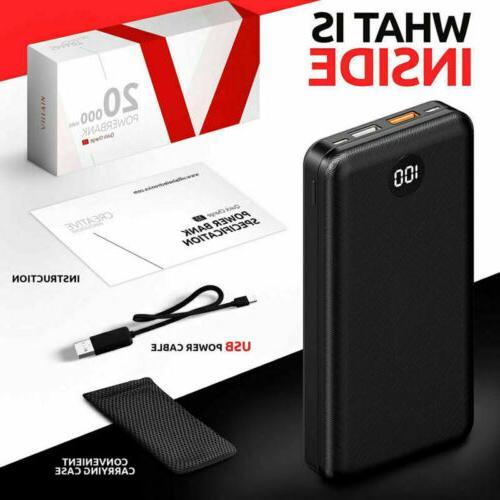 20000mAh Portable Power Battery PD/18W