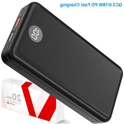 20000mAh Portable Pack PD Charger For iPhone XS 11