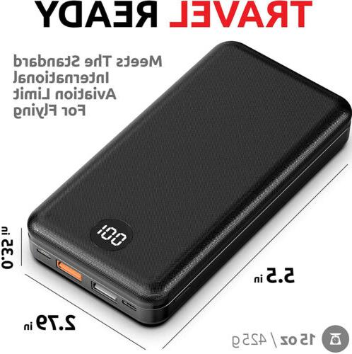 20000mAh Portable Power Pack Charger iPhone XS 11 12 Max