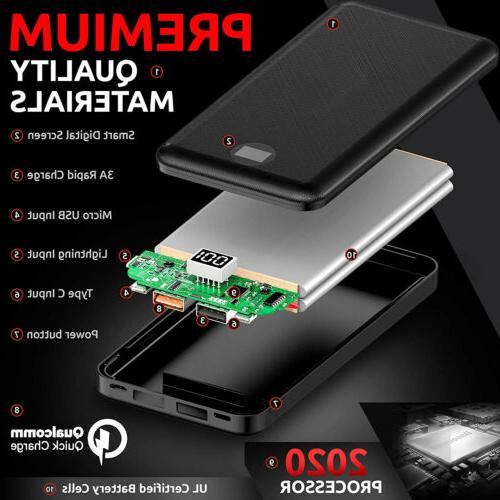 20000mAh Portable Pack Fast Charger For iPhone XS 11 12 Pro