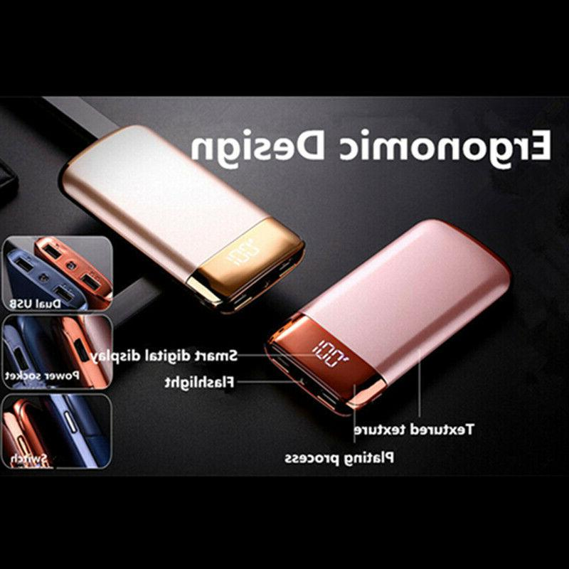500000mAh Power 2 USB Charger Battery for Phone