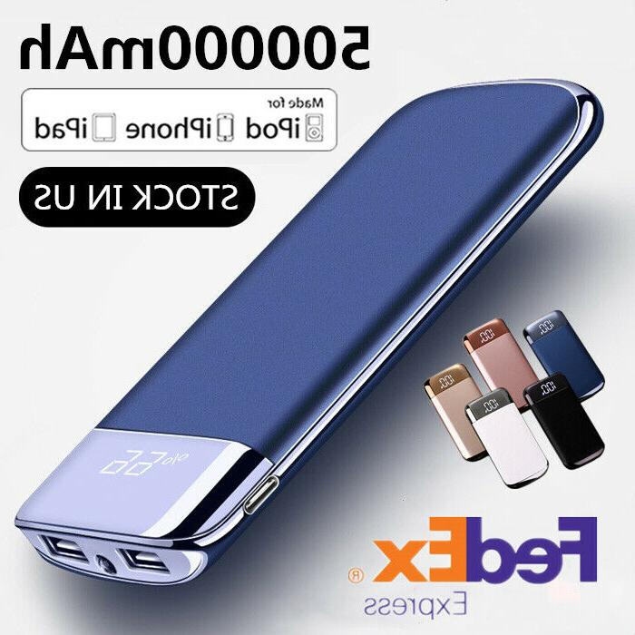 500000mah power bank portable 2 usb charger