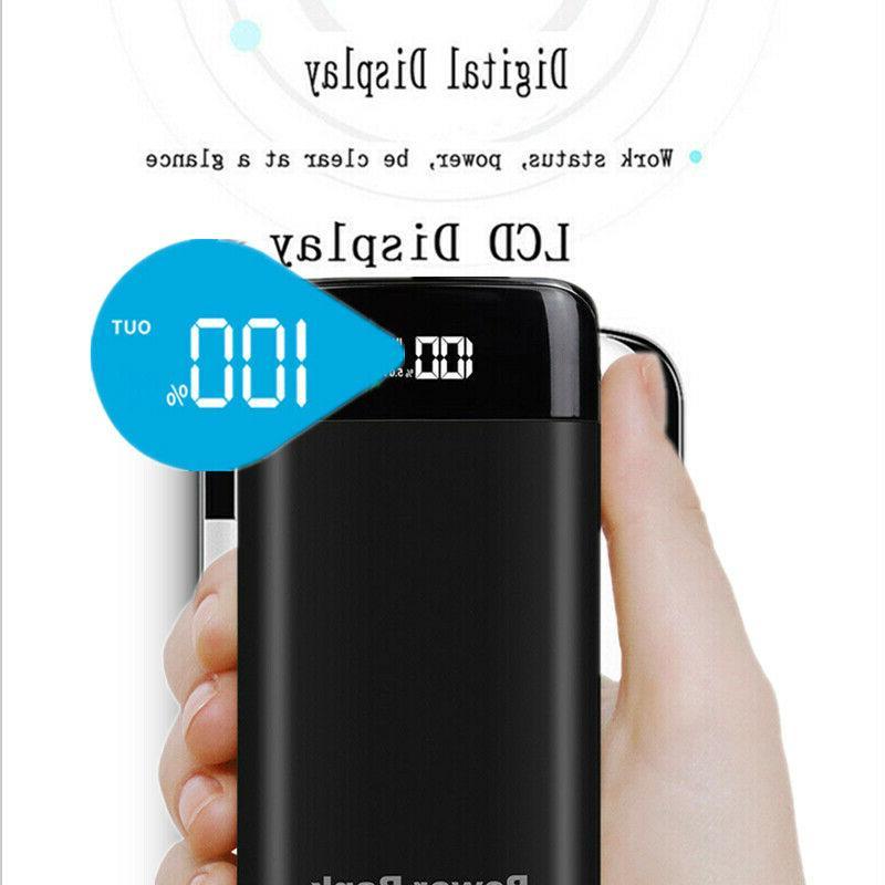 2000000mAh Portable Power Bank LCD Battery Phone