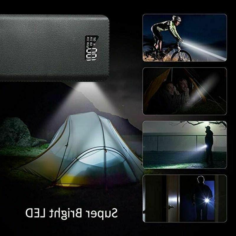 900000mAh Bank 4USB Portable External Charger Fast Charging
