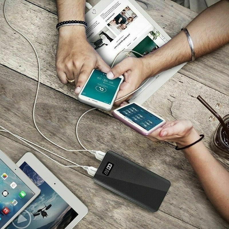 900000mAh Bank Portable External Battery Backup Charger