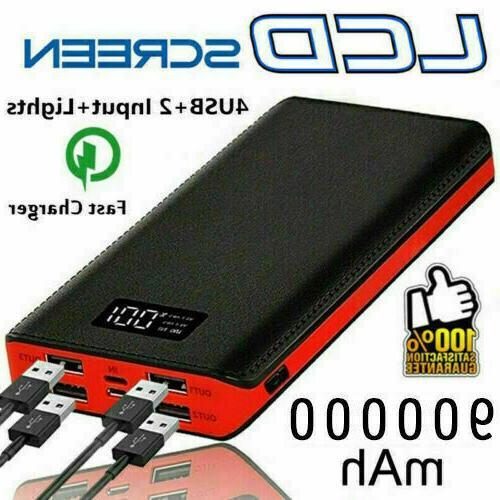 900000mah power bank 4usb portable external battery