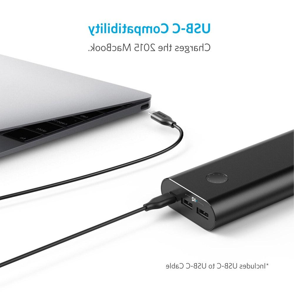 <font><b>Anker</b></font> PowerCore+ USB-C,Ultra-High Capacity <font><b>Portable</b></font> <font><b>Charger</b></font> External PowerIQ for iPhone,Samsung,MacBook etc