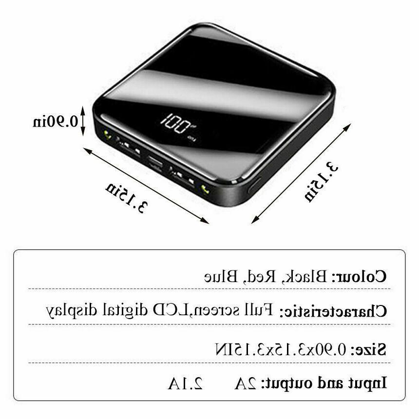 Mini 900000mAh Power UltraThin Battery Backup Charger