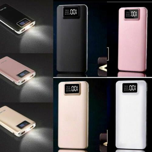 portable 100000mah lcd power bank external 2