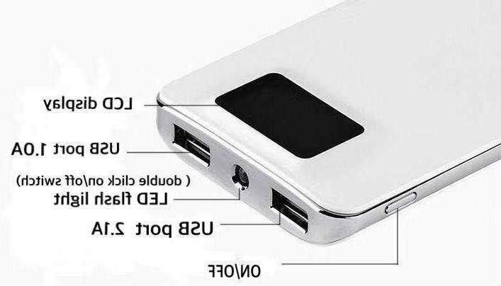 Portable Bank External 2 USB Phone