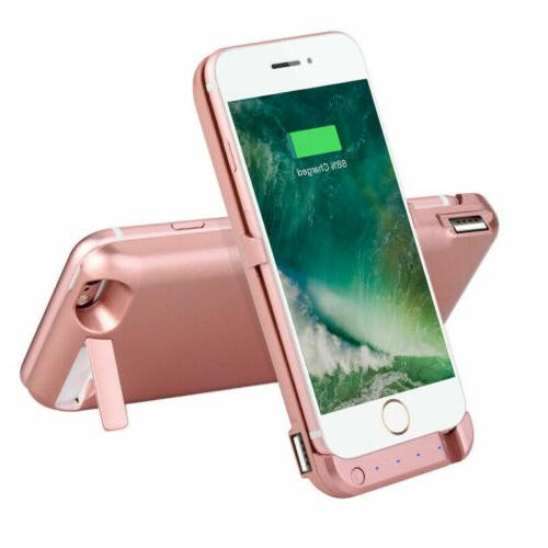 Portable USB Battery Charger Case Cover 6s 8 Plus