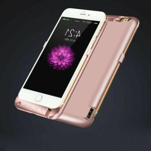 Portable Bank Pack USB Battery Case Cover For iPhone 6