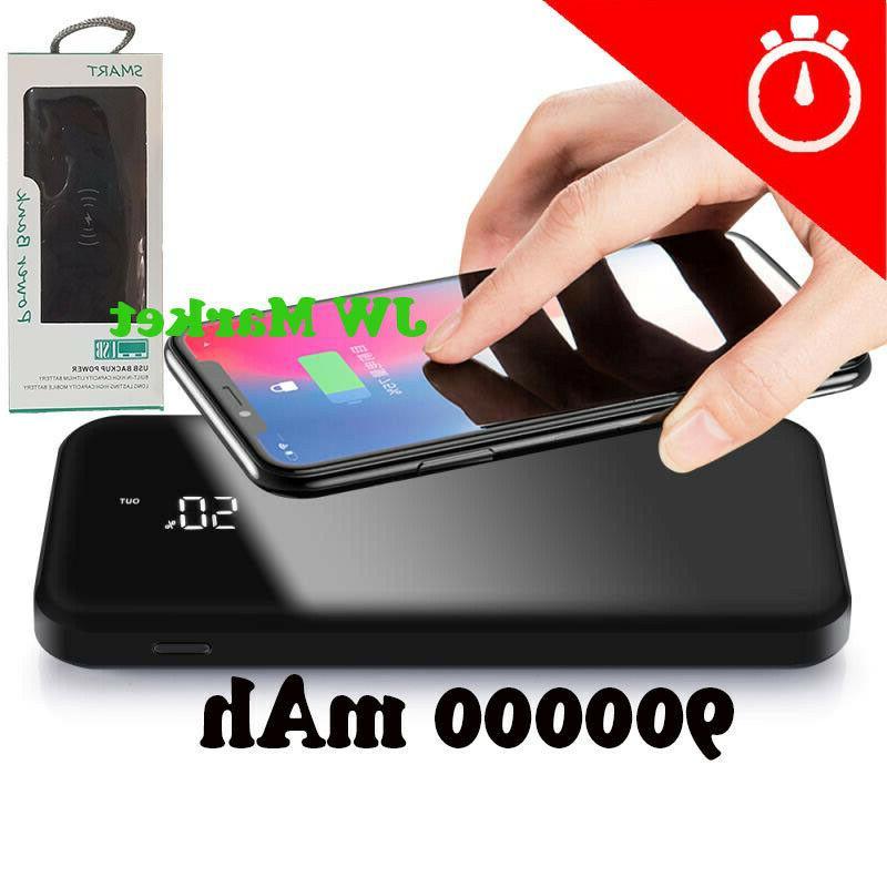 power bank 900000mah qi wireless external battery