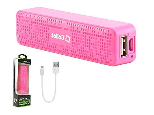 Cellet Power Bank Portable Charger for & Apple Devices, Electronic Pink