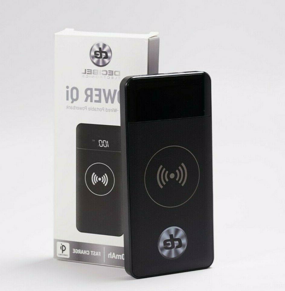 Decibel Electronics Power QiPowerbank Wireless OR Wire