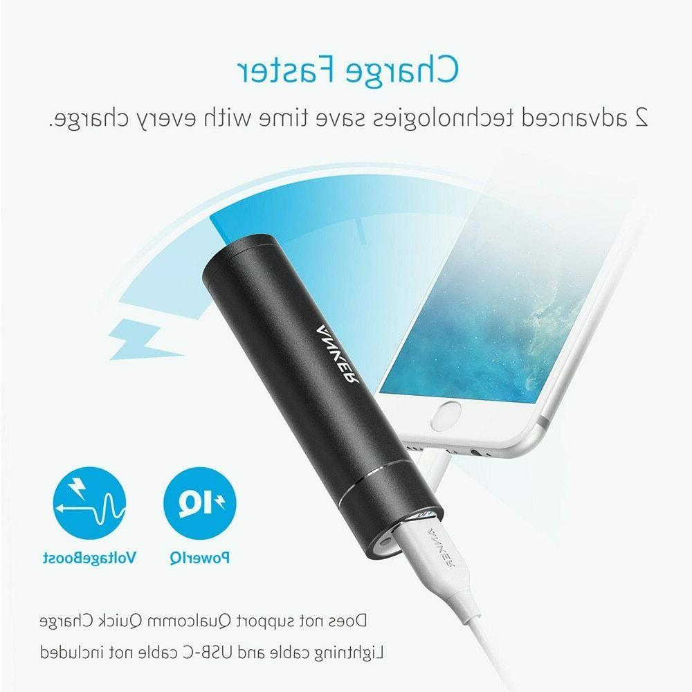 Anker PowerCore+ Mini,3350mAh Lipstick-Sized Portable