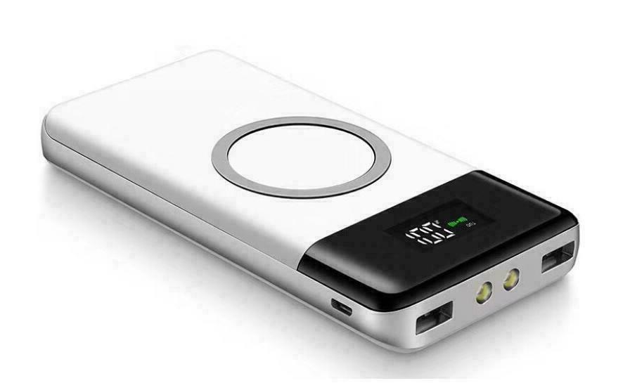 Qi Wireless Power 900000mAh Backup Portable Charger External