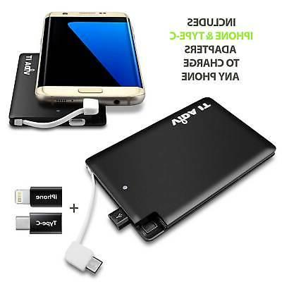 Super Slim Power Bank Charger with