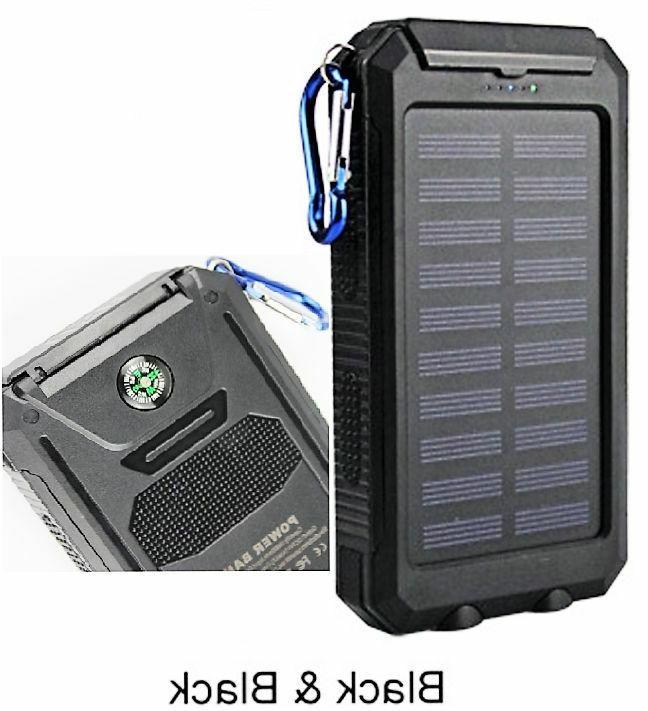 2021 Waterproof 2000000mAh Portable Solar Bank Cell Phone