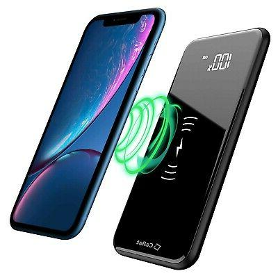 wireless portable charger 10000 mah led display