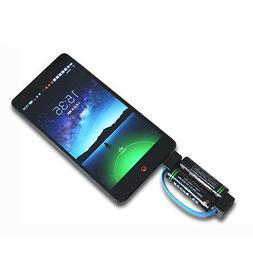 Mini Portable Magnetic AA / AAA Battery Powered Phone Charge