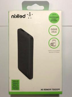 New Belkin 5000mAh Portable Ultra Thin Battery Charger - Bla
