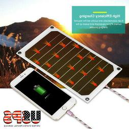 Portable 10W 5V Outdoor Solar Charging Charger Panel USB for