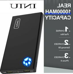 INIU Portable Charger 10000mAh Power Bank High-Speed 2 USB P