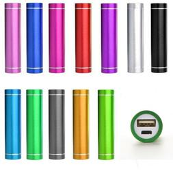 Portable Power Bank case 2600mAh Mobile USB Battery Charger