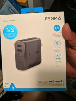 New Anker PowerCore Fusion 5000 Portable Charger & Wall Char