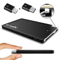 Slim Power Bank Portable Charger For Phone with extra USB-C