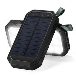 Titita Solar Charger 8000mA battery 3-Port USB and LED Light