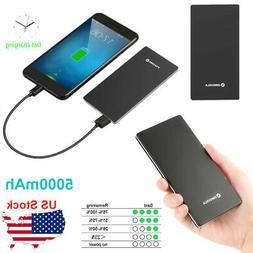 Ultra Thin 5000mAh Power Bank Portable Battery Pack Charger