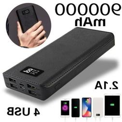 usa 500000mah portable power bank lcd led